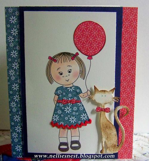 Mikala Ann holding a balloon - Diane Hover