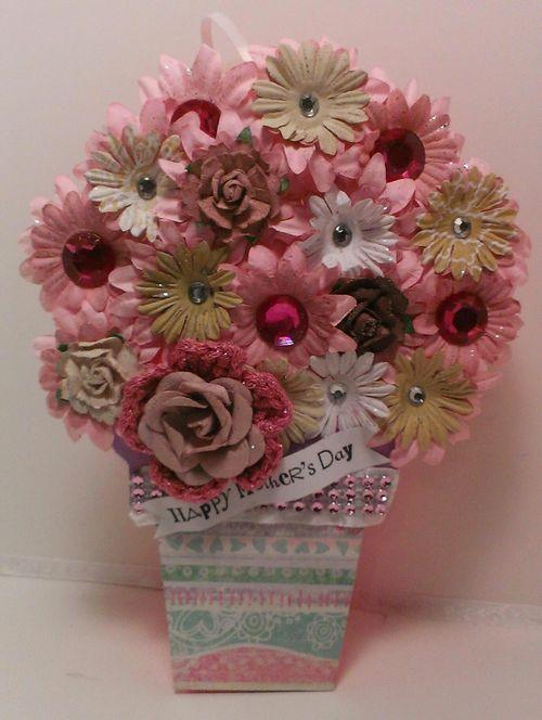 Chauntee Lee - Flower pot shaped card