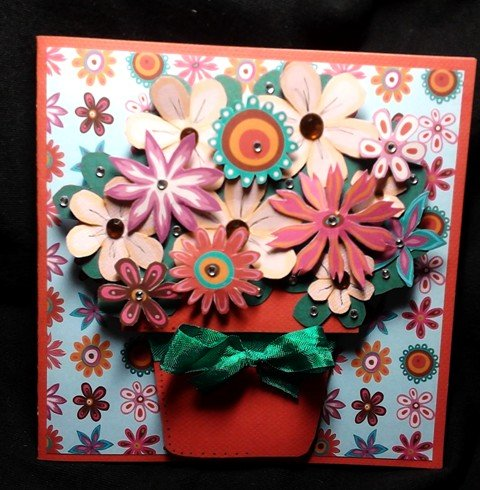 Flower pot shaped card -Cathryn Holzschuher