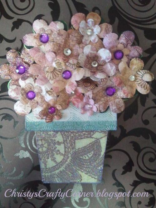 Flower pot shaped card - Christy Lepine
