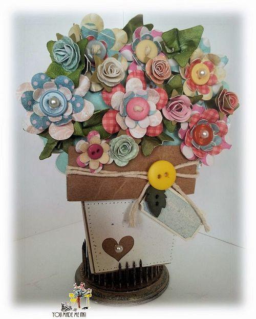 Flower pot shaped card - Lisa Minckler
