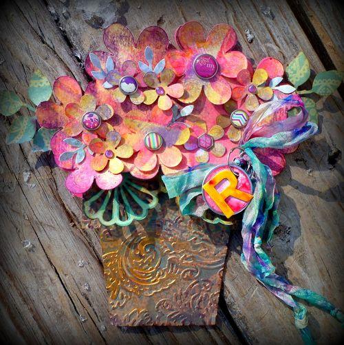 Flower pot shaped card - Mitra Pratt