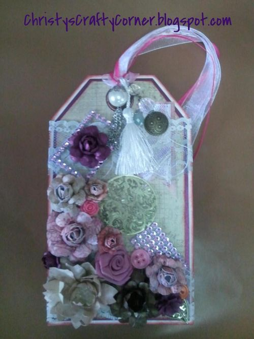 Tag- Paper flowers - Cindy Lepine