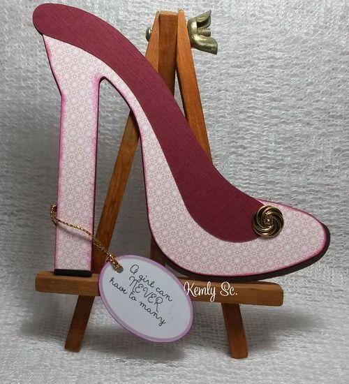 High heel shoe shaped card - Kemly Sc