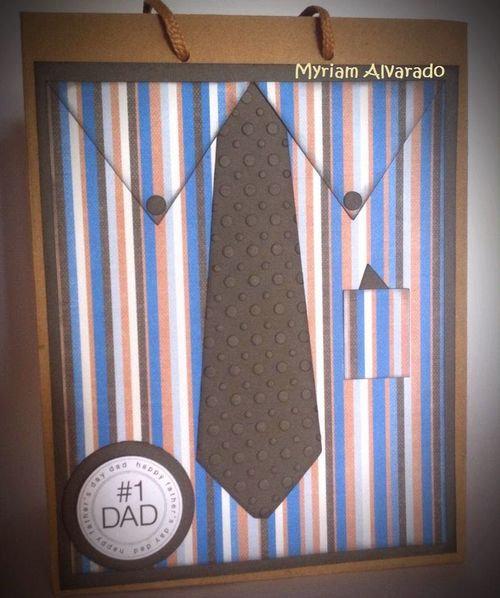 Shirt and tie shaped card - Myriam Alvarado