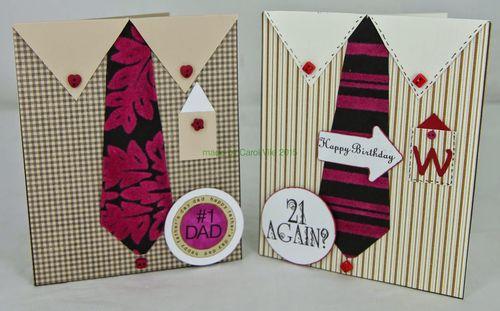 Shirt  shaped card - Carol Nile