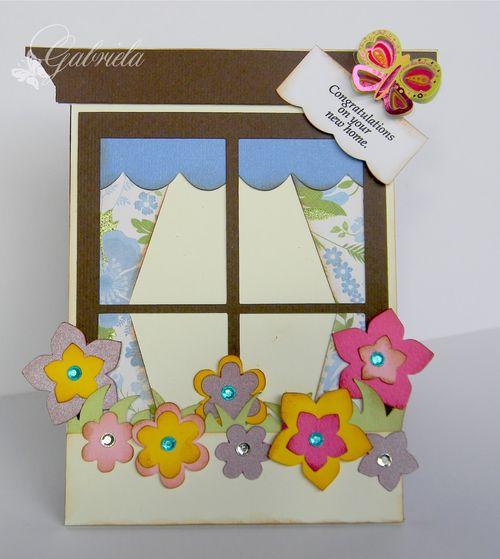 Windowsill shaped card - Gabriela