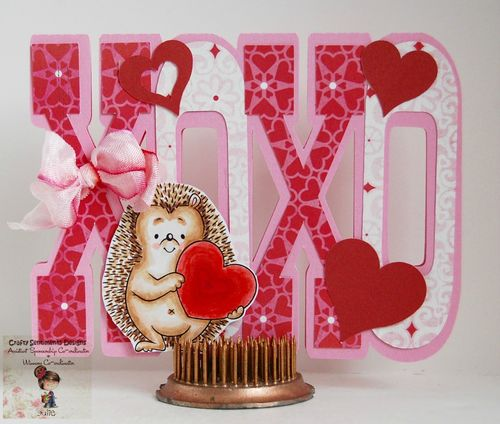 Xoxo word shaped card - julie odil