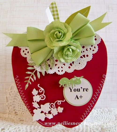 Apple shaped card - Diane Hover