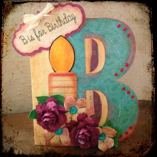 B IS FOR BIRTHDAY - Tina Goodman - Letter B shaped card