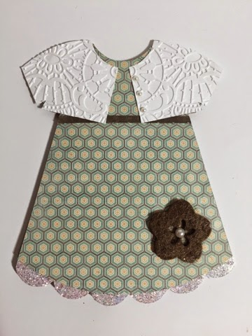 Dress shaped card 2 - Keri Parish