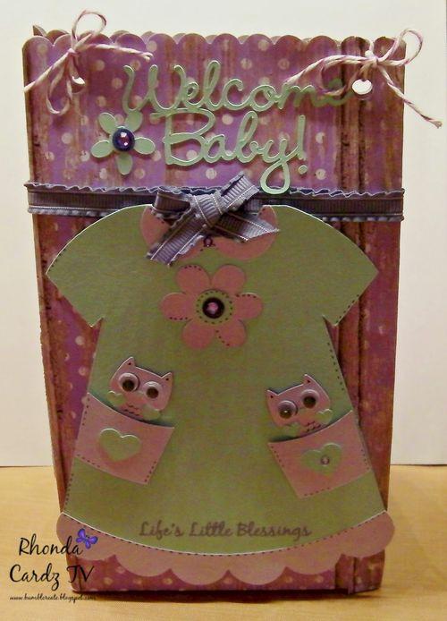 Dress shaped card 2 -Rhonda Zmikly