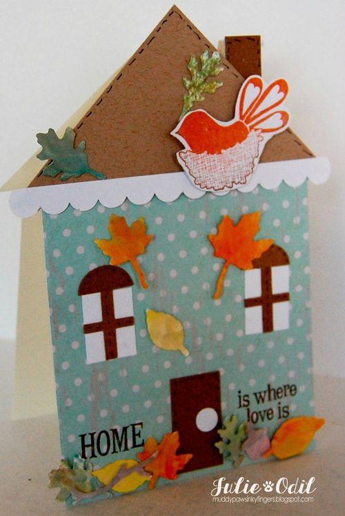 HOME - Julie Odil - House shaped card