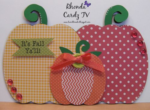 Pumpkin trio shaped card set - Rhonda Zmikly