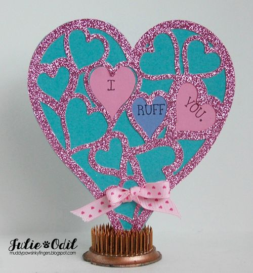 Heart lace shaped card - Julie Odil