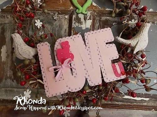 Rhonda emery - love word shaped card