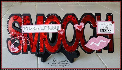 Smooch word shaped card - Dee Jones