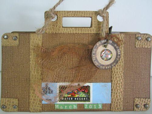 Vacation suitcase mini album - Karyn Halter - Suitcase mini album